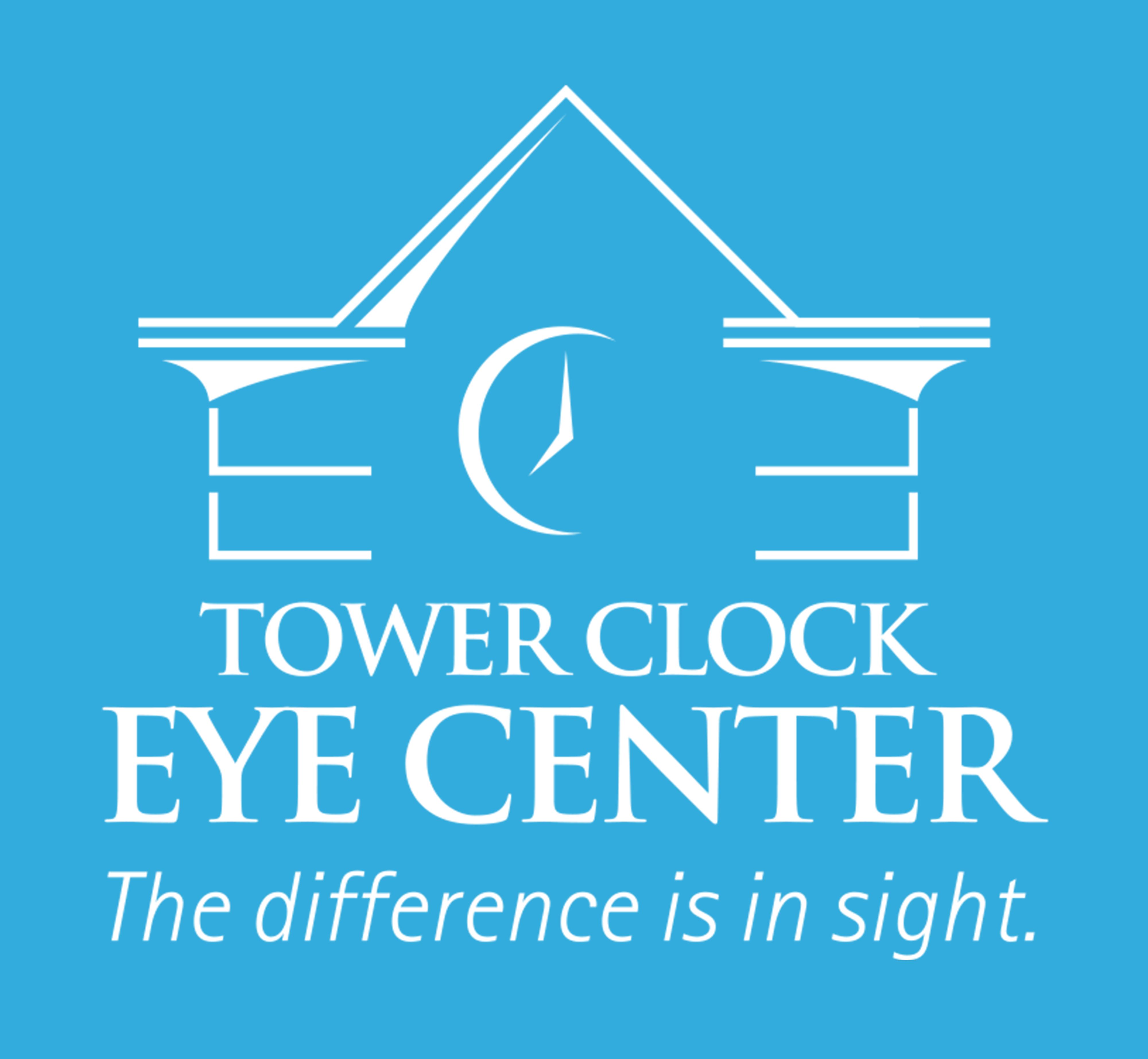 Tower Clock Eye Center Logo